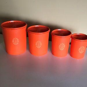 COPY - Orange Vintage Tupperware Canister Set